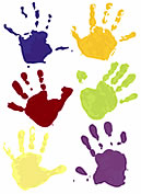 painted handprints